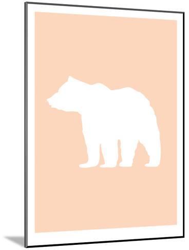 Peach White Bear-Jetty Printables-Mounted Art Print