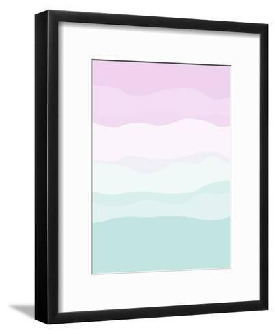Mint Lavender Abstract-Jetty Printables-Framed Art Print