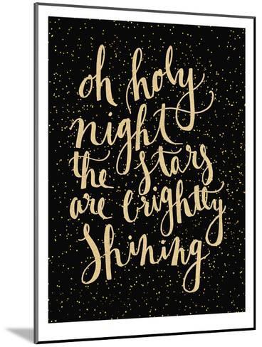 Holy Night-Jetty Printables-Mounted Art Print
