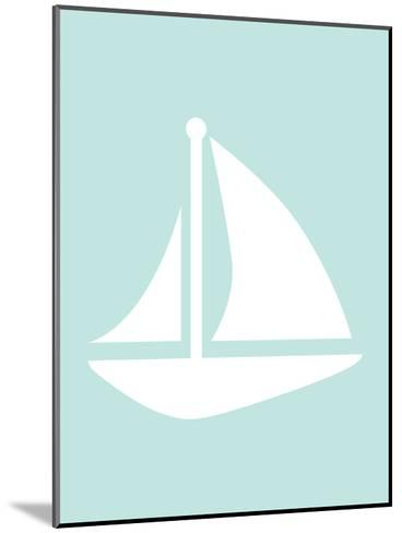 Mint Sailboat-Jetty Printables-Mounted Art Print