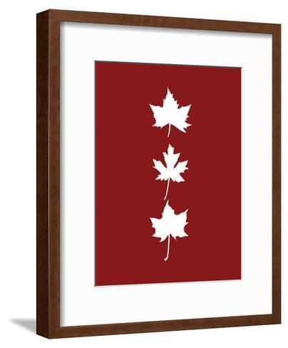Red Leaves-Jetty Printables-Framed Art Print