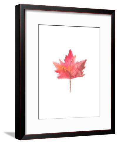Watercolor 1 Leaf-Jetty Printables-Framed Art Print
