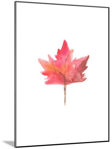 Watercolor 1 Leaf-Jetty Printables-Mounted Art Print