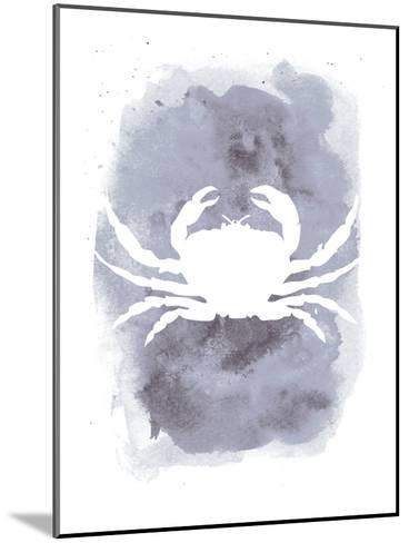 Watercolor Gray Crab-Jetty Printables-Mounted Art Print