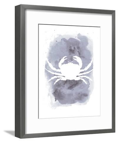 Watercolor Gray Crab-Jetty Printables-Framed Art Print