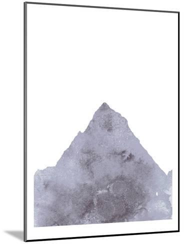 Watercolor Gray Mountain 1-Jetty Printables-Mounted Art Print