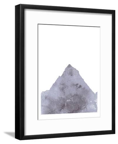 Watercolor Gray Mountain 1-Jetty Printables-Framed Art Print