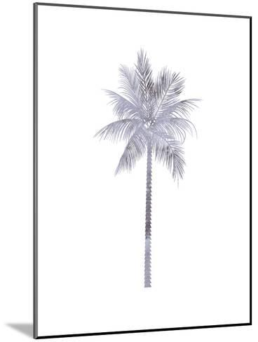 Watercolor Gray Palm-Jetty Printables-Mounted Art Print