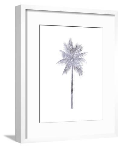 Watercolor Gray Palm-Jetty Printables-Framed Art Print