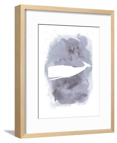 Watercolor Gray Back Whale-Jetty Printables-Framed Art Print