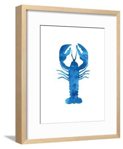 Watercolor Blue Lobster-Jetty Printables-Framed Art Print