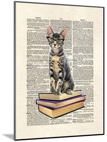 Book Cat-Matt Dinniman-Mounted Art Print