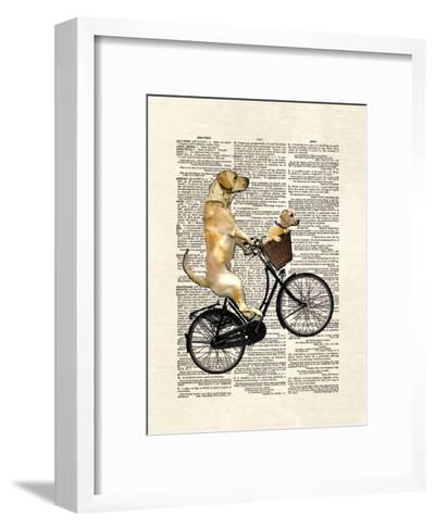 Labrador Bike-Matt Dinniman-Framed Art Print