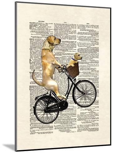 Labrador Bike-Matt Dinniman-Mounted Art Print