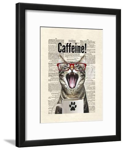 Cat Caffeine-Matt Dinniman-Framed Art Print