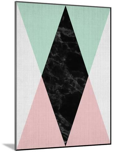 Geometric Pink Mint-LILA X LOLA-Mounted Art Print