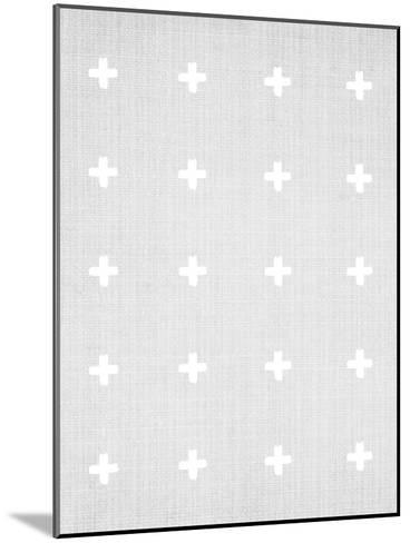 Crosses On Grey-LILA X LOLA-Mounted Art Print