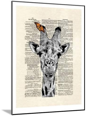 Butterfly Giraffe-Matt Dinniman-Mounted Art Print