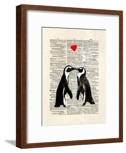 Penguin Lovers-Matt Dinniman-Framed Art Print