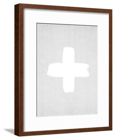 Cross On Grey-LILA X LOLA-Framed Art Print