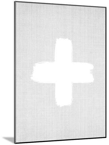 Cross On Grey-LILA X LOLA-Mounted Art Print