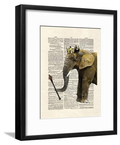 Elephant King-Matt Dinniman-Framed Art Print