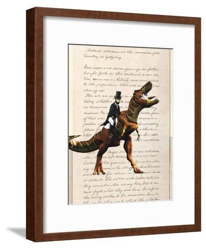 Lincoln T Rex-Matt Dinniman-Framed Art Print