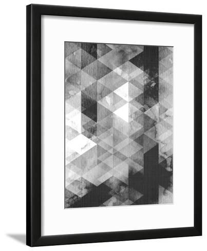 Geometric Black Grey-LILA X LOLA-Framed Art Print