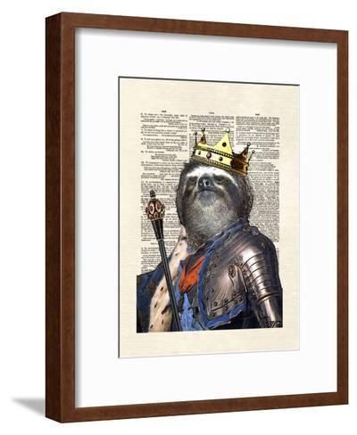 Sloth King-Matt Dinniman-Framed Art Print