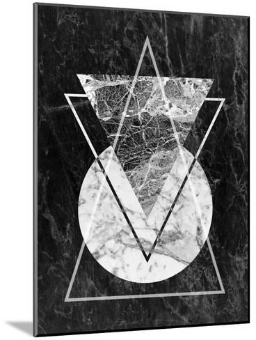 Geo Triangles-LILA X LOLA-Mounted Art Print