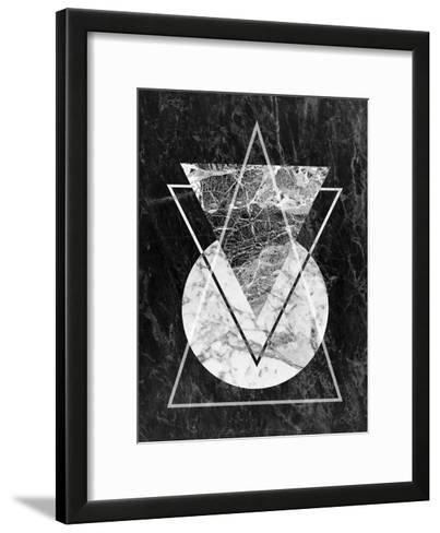 Geo Triangles-LILA X LOLA-Framed Art Print