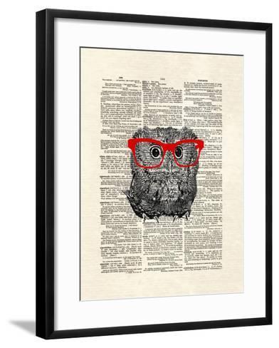 Smarty Owl-Matt Dinniman-Framed Art Print