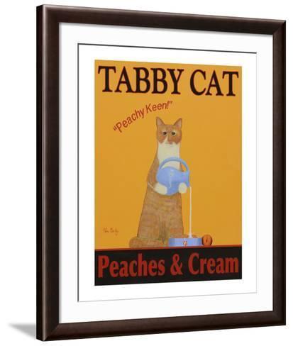 Tabby Cat Peaches & Cream-Ken Bailey-Framed Art Print