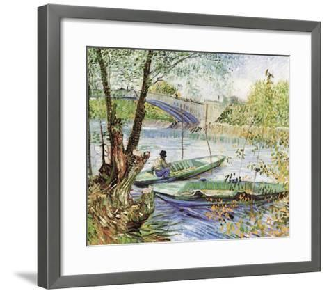 A Fisherman in His Boat-Vincent van Gogh-Framed Art Print
