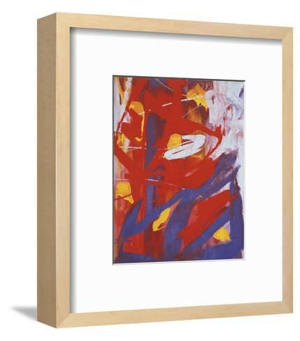 Abstract Painting, c. 1982 (indigo, red, white)-Andy Warhol-Framed Art Print