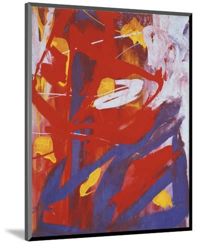 Abstract Painting, c. 1982 (indigo, red, white)-Andy Warhol-Mounted Art Print