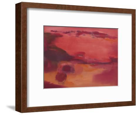 Adrift in Red-Nancy Ortenstone-Framed Art Print