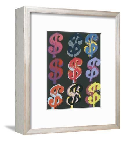 $9, 1982 (on black)-Andy Warhol-Framed Art Print