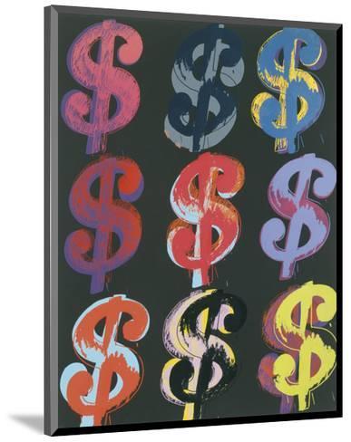 $9, 1982 (on black)-Andy Warhol-Mounted Giclee Print