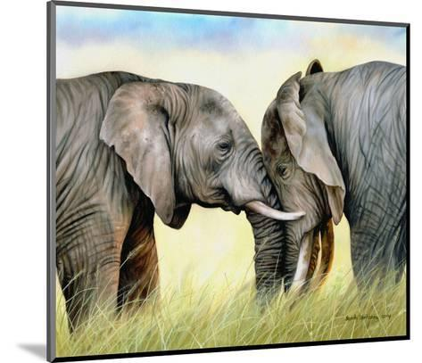 African Elephants-Sarah Stribbling-Mounted Art Print