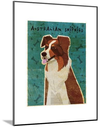 Australian Shepherd (Red)-John W^ Golden-Mounted Art Print