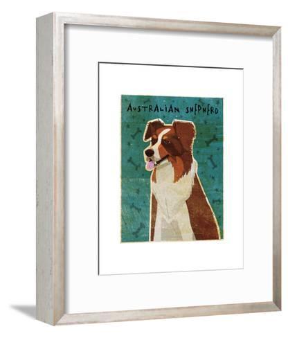 Australian Shepherd (Red)-John W^ Golden-Framed Art Print