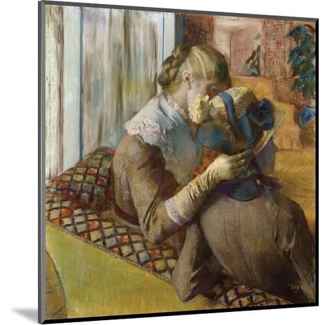 At the Milliners, 1881-Edgar Degas-Mounted Art Print