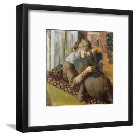 At the Milliners, 1881-Edgar Degas-Framed Art Print