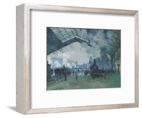 Arrival of the Normandy Train, Gare Saint-Lazare, 1877-Claude Monet-Framed Art Print