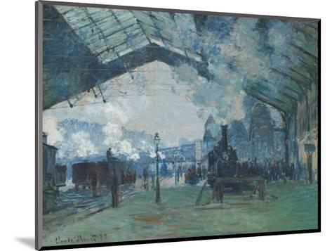 Arrival of the Normandy Train, Gare Saint-Lazare, 1877-Claude Monet-Mounted Art Print