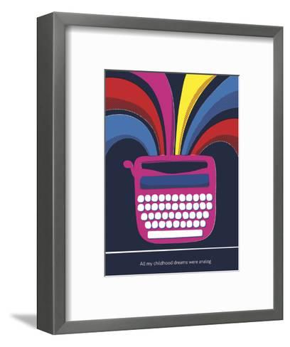 All My Childhood Dreams Were Analogue-Anthony Peters-Framed Art Print