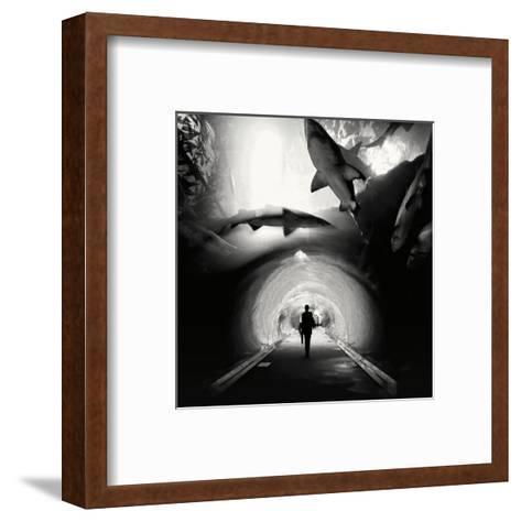 Aquarium, Study 1, Dubai, UAE-Marcin Stawiarz-Framed Art Print