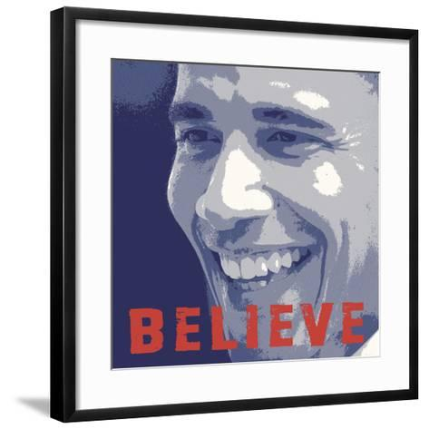 Barack Obama: Believe-Celebrity Photography-Framed Art Print