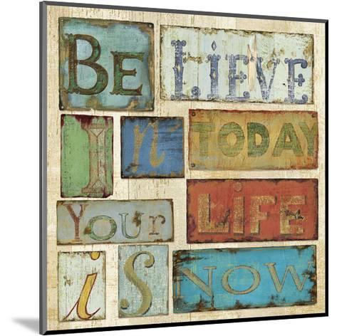 Believe & Hope I-Daphn? B-Mounted Art Print